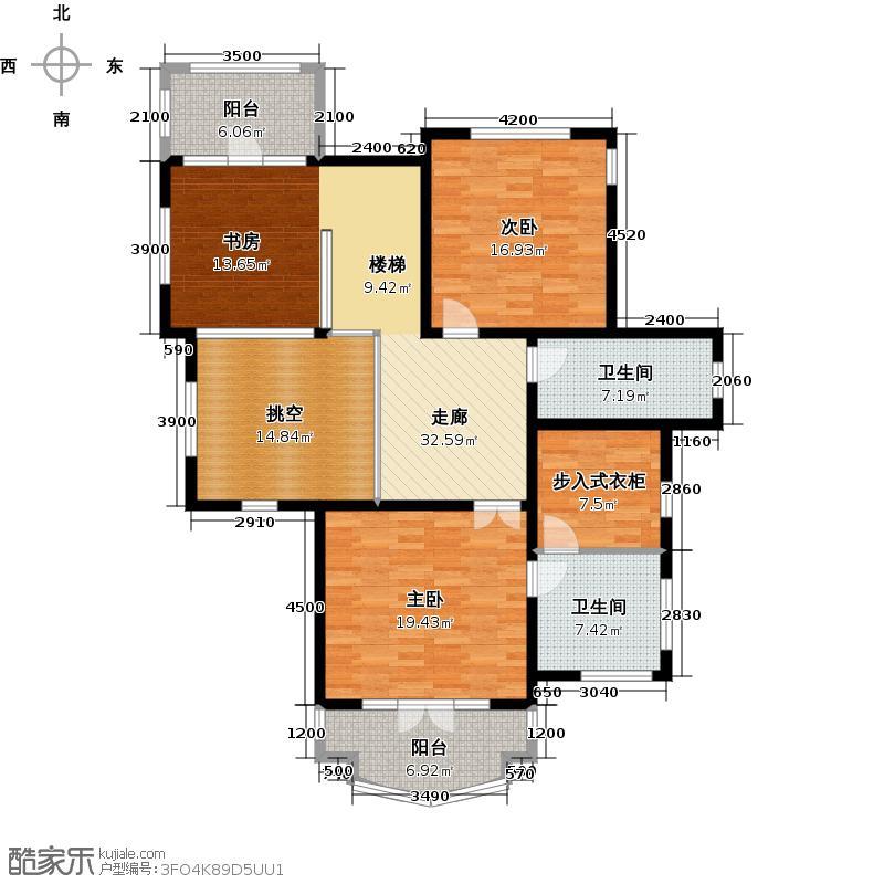 保利垄上110.33㎡B26地上二层户型10室