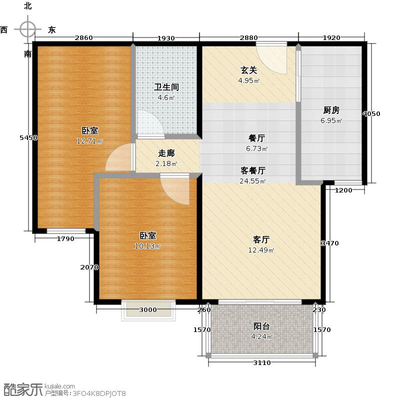 远洋沁山水上品88.00㎡5号楼B2户型10室