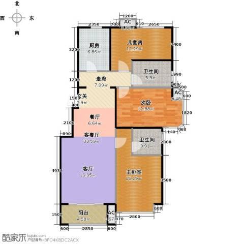 北京城建・海梓府3室2厅2卫0厨111.00㎡户型图