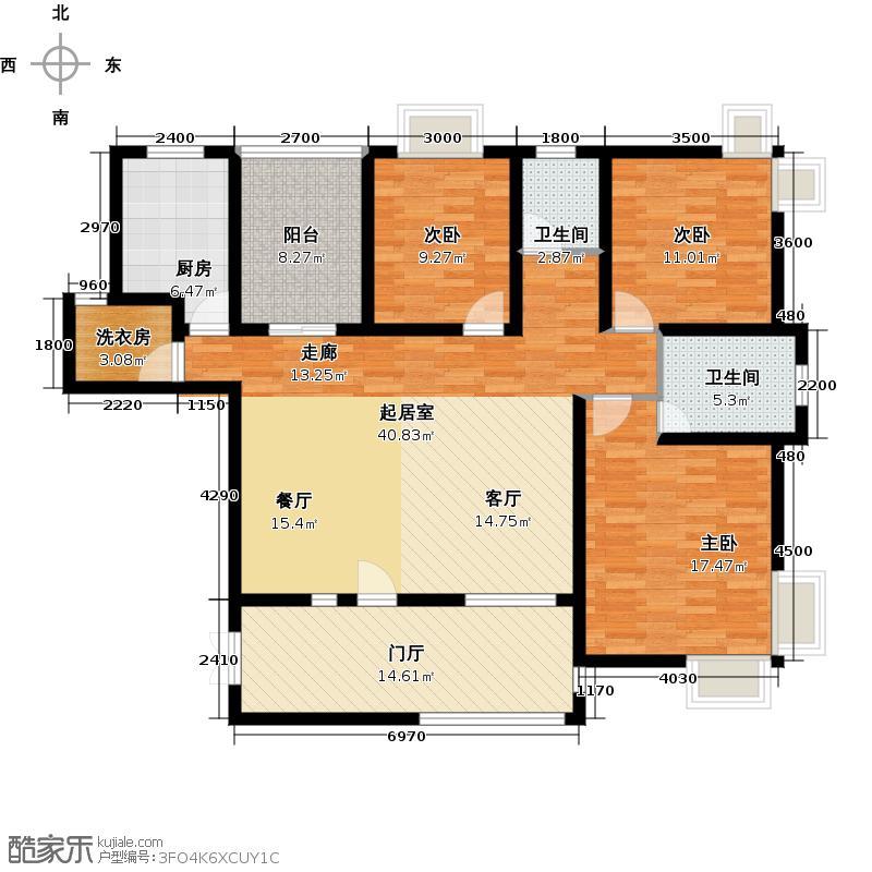 上上城158.00㎡A户型4室3厅2卫