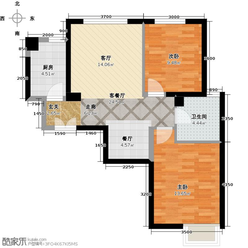 京贸国际城82.73㎡2号楼D(已售完)户型10室