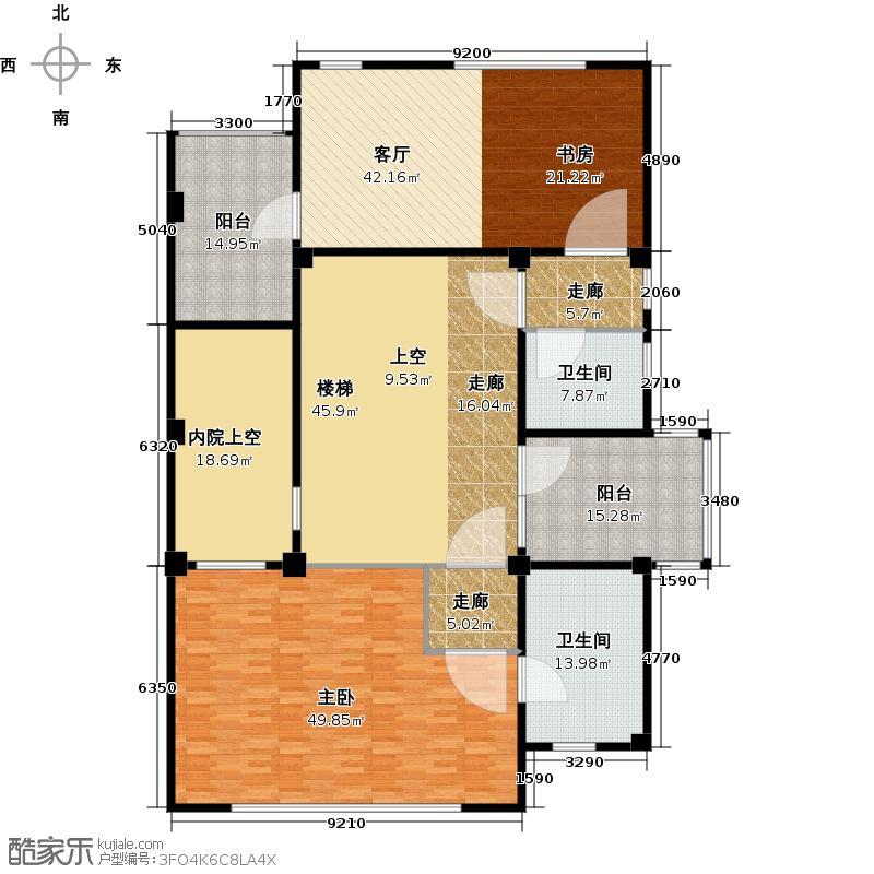 天鸿美和院238.00㎡A1二层户型10室