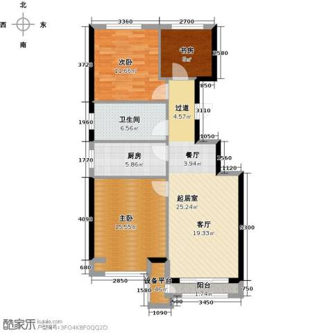 北京城建・上河湾105.00㎡户型图