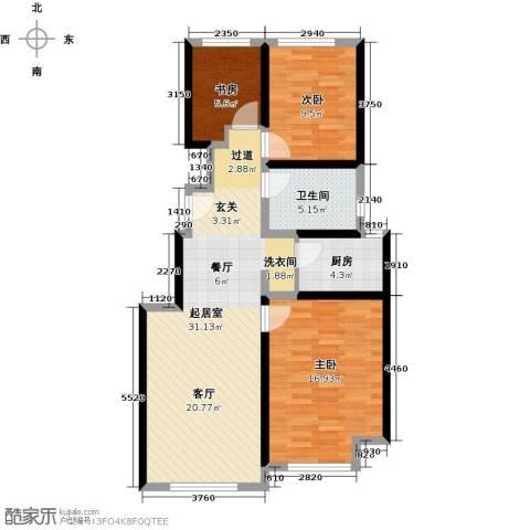 北京城建・上河湾104.00㎡户型图