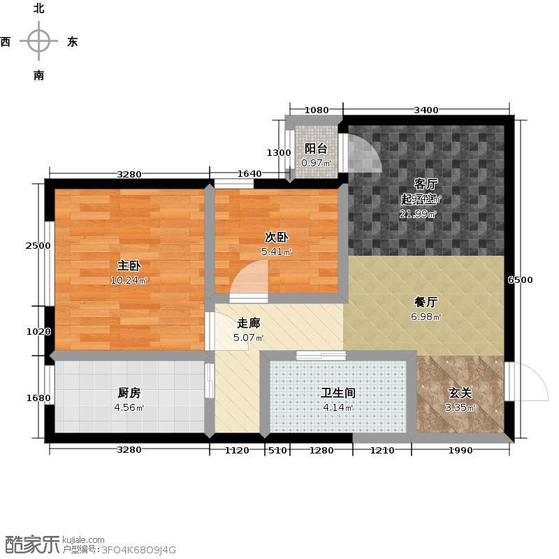 时代新苑72.00㎡1G户型10室