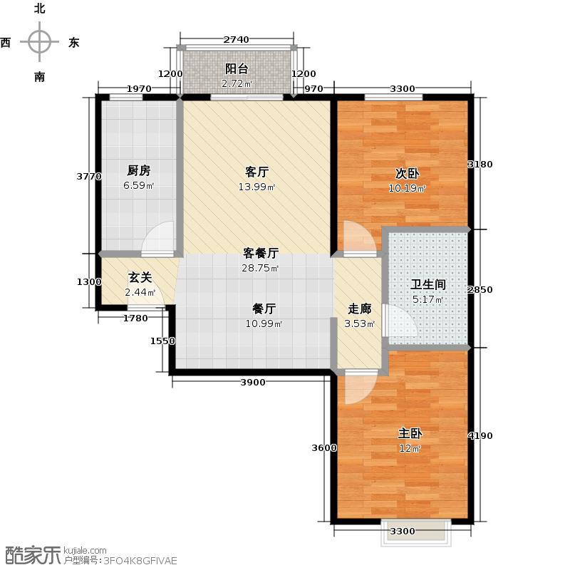 远洋沁山水上品89.00㎡14#楼B7户型10室