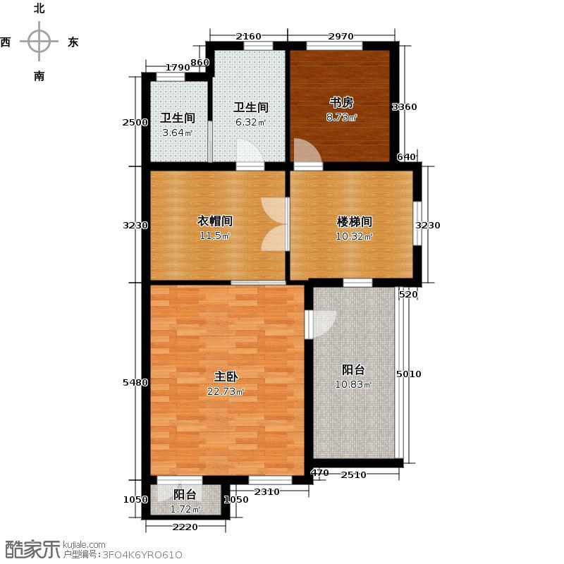 保亿丽景山78.00㎡联排别墅A地上三层户型2室2卫