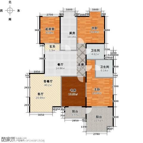 益田影人四季花园3室1厅2卫1厨157.00㎡户型图