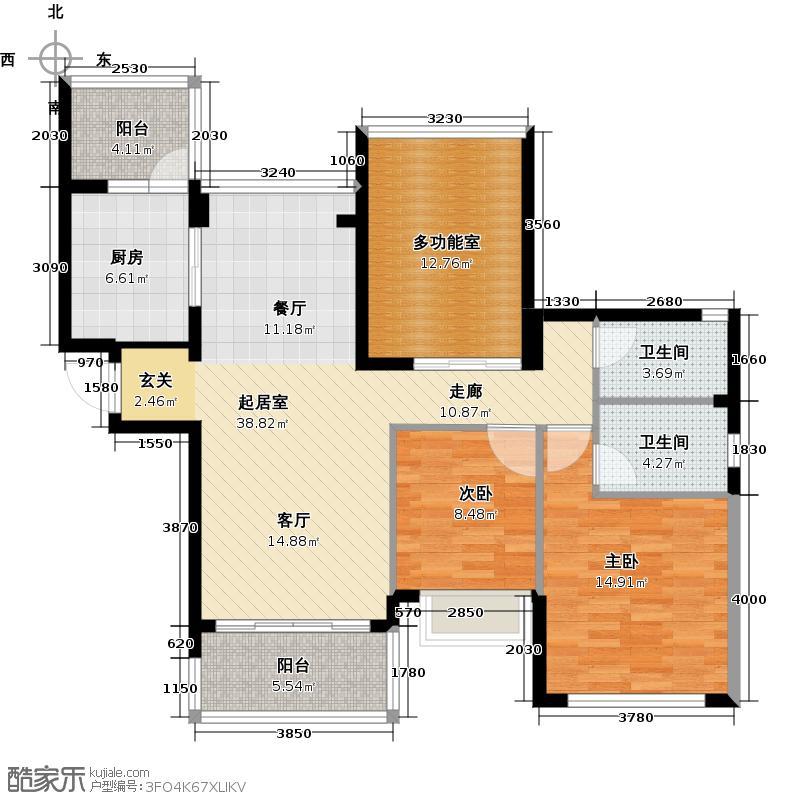 合景峰汇国际109.00㎡C户型2室2厅2卫