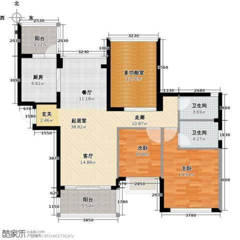 合景峰汇国际2室2厅2卫0厨109.00㎡户型图