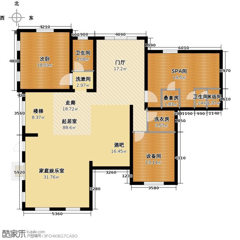 珠江紫宸山167.07㎡K04首层户型10室