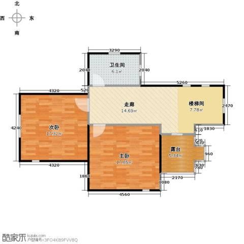 天恒别墅山2室0厅1卫0厨90.00㎡户型图