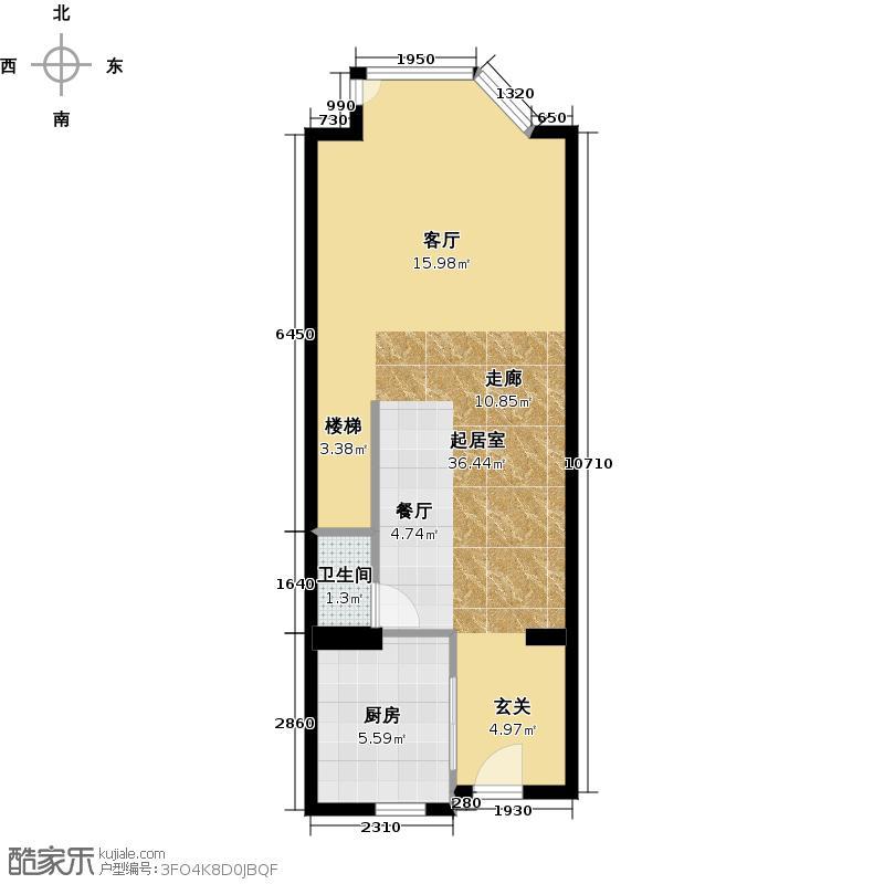 京泰自主城48.25㎡B1下面平面图户型10室