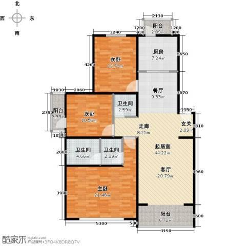 华风龙腾郡3室0厅3卫1厨121.00㎡户型图