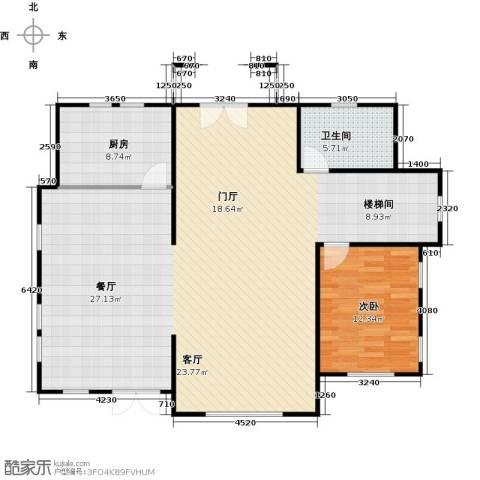 天恒别墅山1室2厅1卫0厨135.00㎡户型图