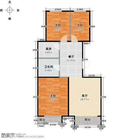 金第梦想山3室0厅1卫1厨103.00㎡户型图