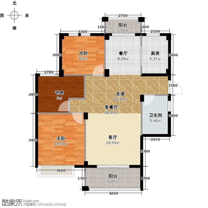 华立和郡111.00㎡H1户型10室