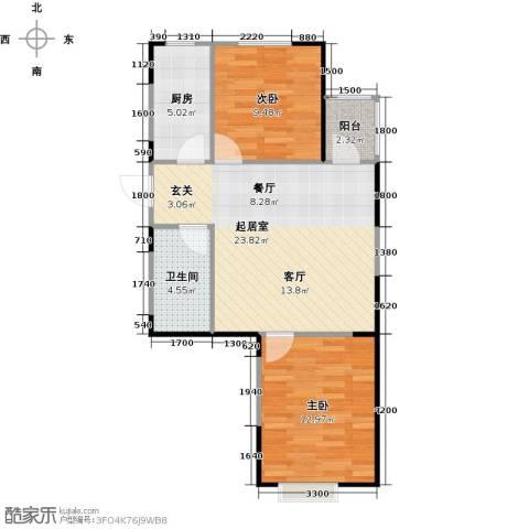 LOHAS上院7号公寓2室0厅1卫1厨82.00㎡户型图