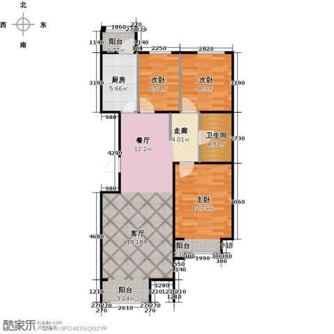 金第梦想山2室0厅1卫1厨104.00㎡户型图