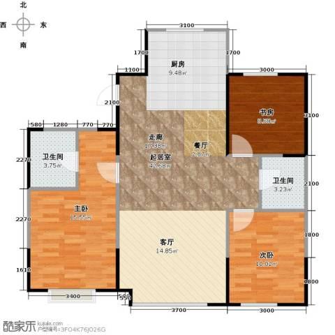 LOHAS上院7号公寓3室0厅2卫0厨120.00㎡户型图