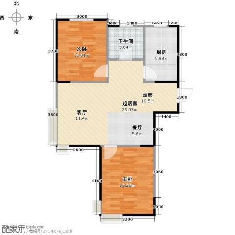LOHAS上院7号公寓2室0厅1卫1厨85.00㎡户型图