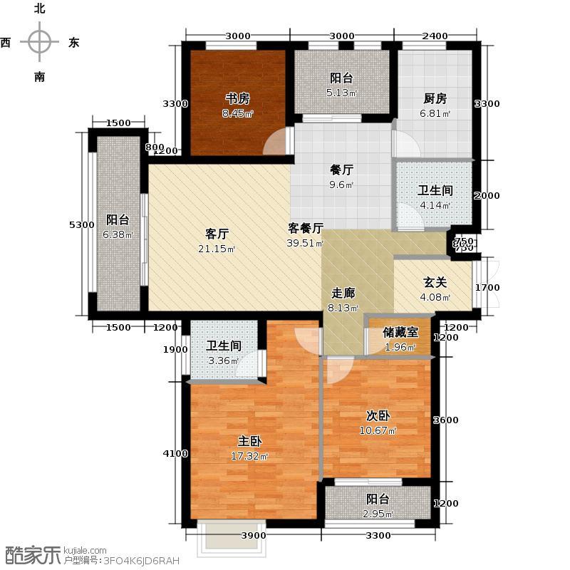 中乐百花公馆121.47㎡户型10室