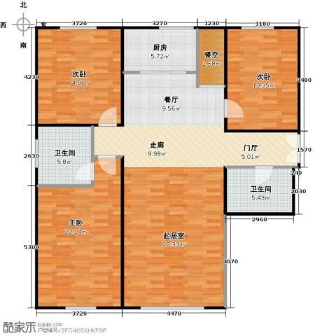 上都首府3室0厅2卫1厨124.00㎡户型图