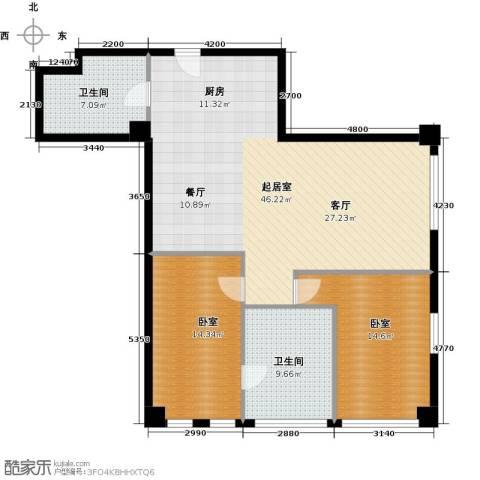 大悦公寓2室2厅1卫0厨100.90㎡户型图