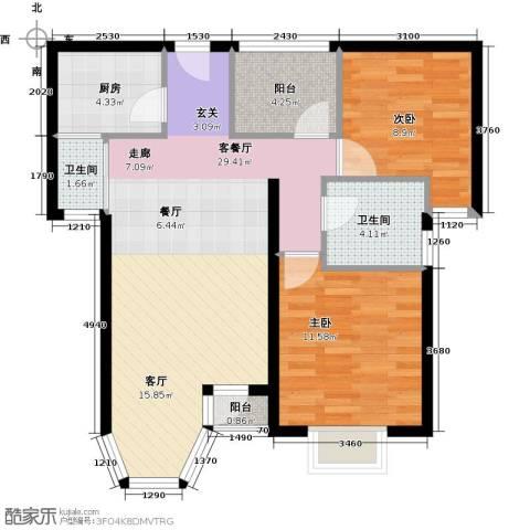 珠江拉维小镇92.00㎡户型图