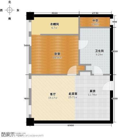 大悦公寓62.10㎡户型图