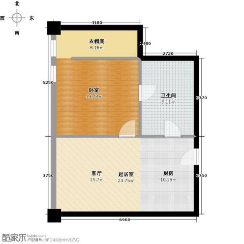 大悦公寓58.09㎡户型图