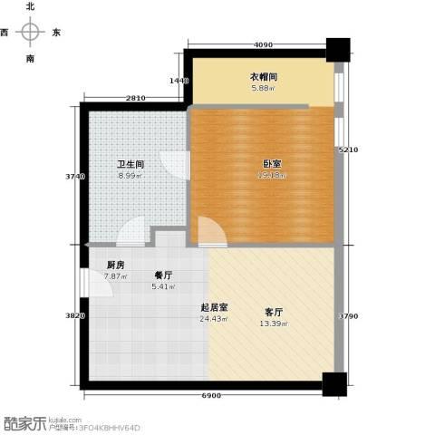 大悦公寓58.05㎡户型图