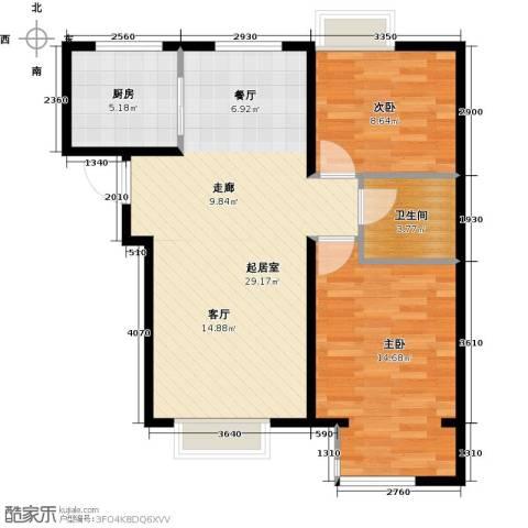 中国铁建・原香漫谷2室2厅1卫0厨84.00㎡户型图