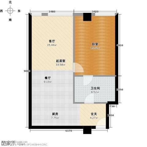 大悦公寓60.67㎡户型图