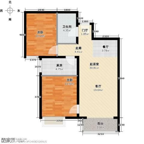 中国铁建・原香漫谷2室2厅1卫0厨86.00㎡户型图