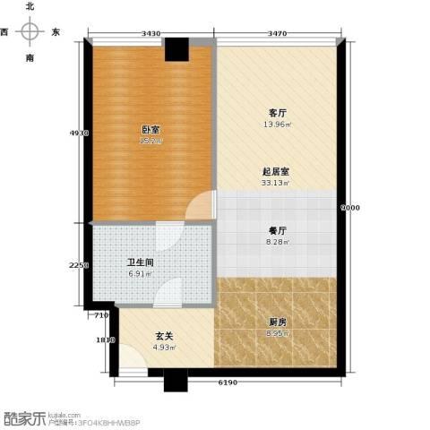 大悦公寓60.81㎡户型图