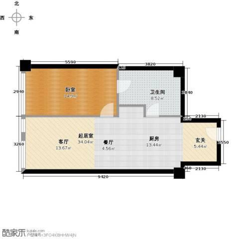 大悦公寓63.41㎡户型图