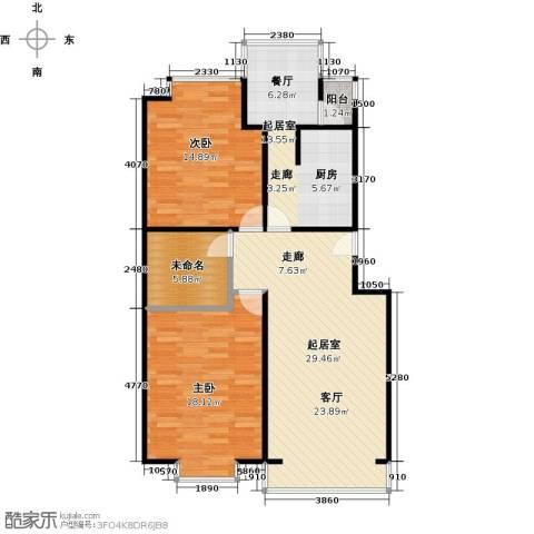 华风龙腾郡2室0厅0卫0厨91.00㎡户型图