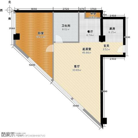 大悦公寓82.60㎡户型图