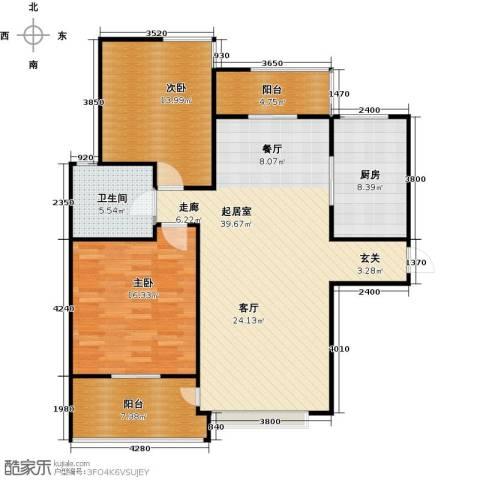 新世纪绿树湾2室2厅1卫0厨108.00㎡户型图