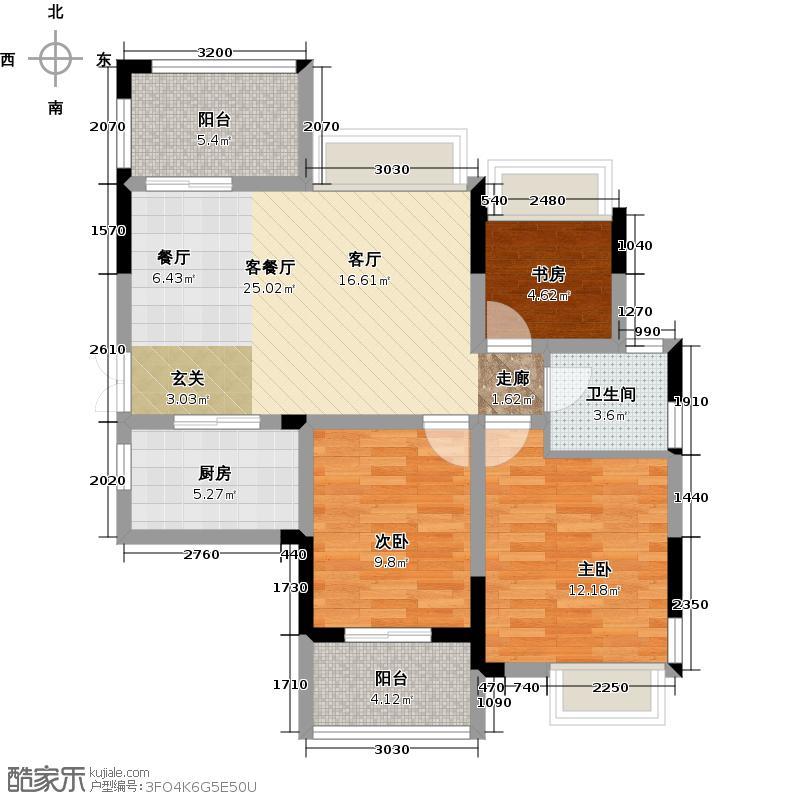 广宇上东城88.29㎡上东臻品5、7号楼13#A边套偶数户型10室