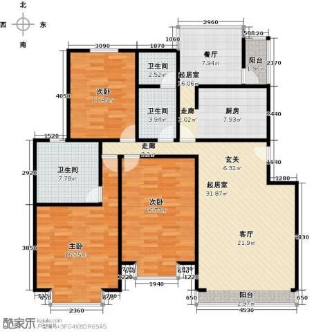 华风龙腾郡3室0厅3卫0厨120.00㎡户型图