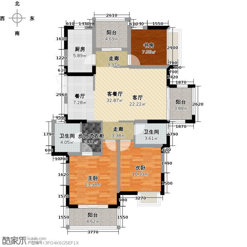 广宇上东城109.23㎡8号楼A奇数层户型10室