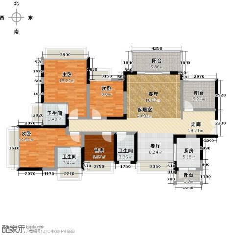 富通天邑湾一期4室0厅3卫1厨144.00㎡户型图