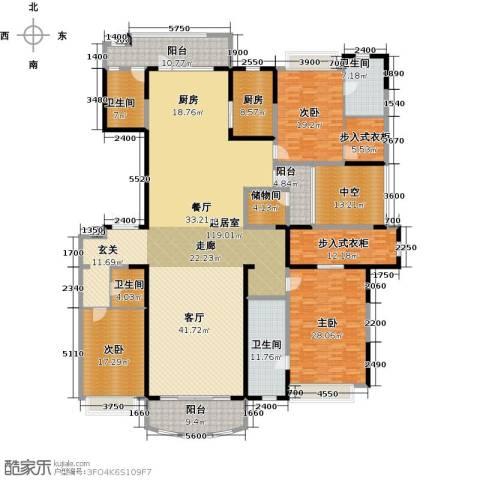 敏捷・畔海御峰3室0厅4卫1厨282.16㎡户型图