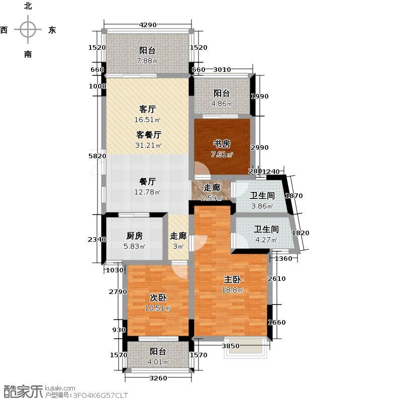 广宇上东城118.68㎡2C户型10室