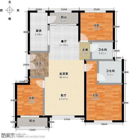 北京城建徜徉集3室0厅2卫1厨125.00㎡户型图