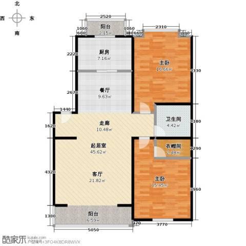 华风龙腾郡2室0厅1卫1厨102.00㎡户型图