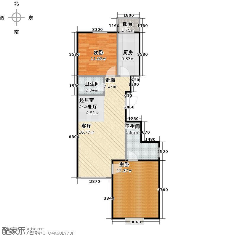 瑞雪春堂86.53㎡11号楼B18户型10室