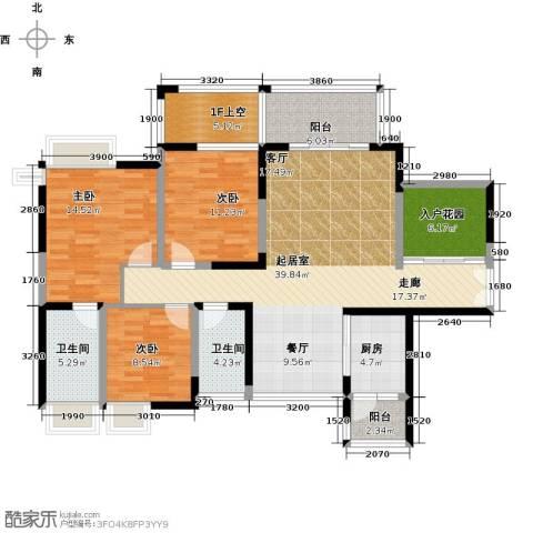 富通天邑湾一期3室0厅2卫1厨130.00㎡户型图